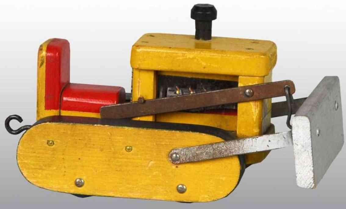 fisher-price holz spielzeug prototyp planierraupe