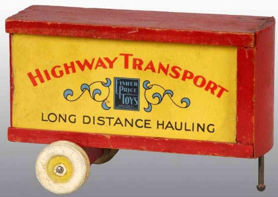 Fisher-Price Holz Autobahn Transportwagenanhänger
