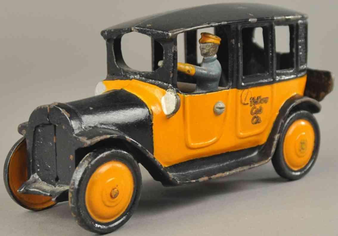 freidag 4536 spielzeug gusseisen auto taxi orange schwarz