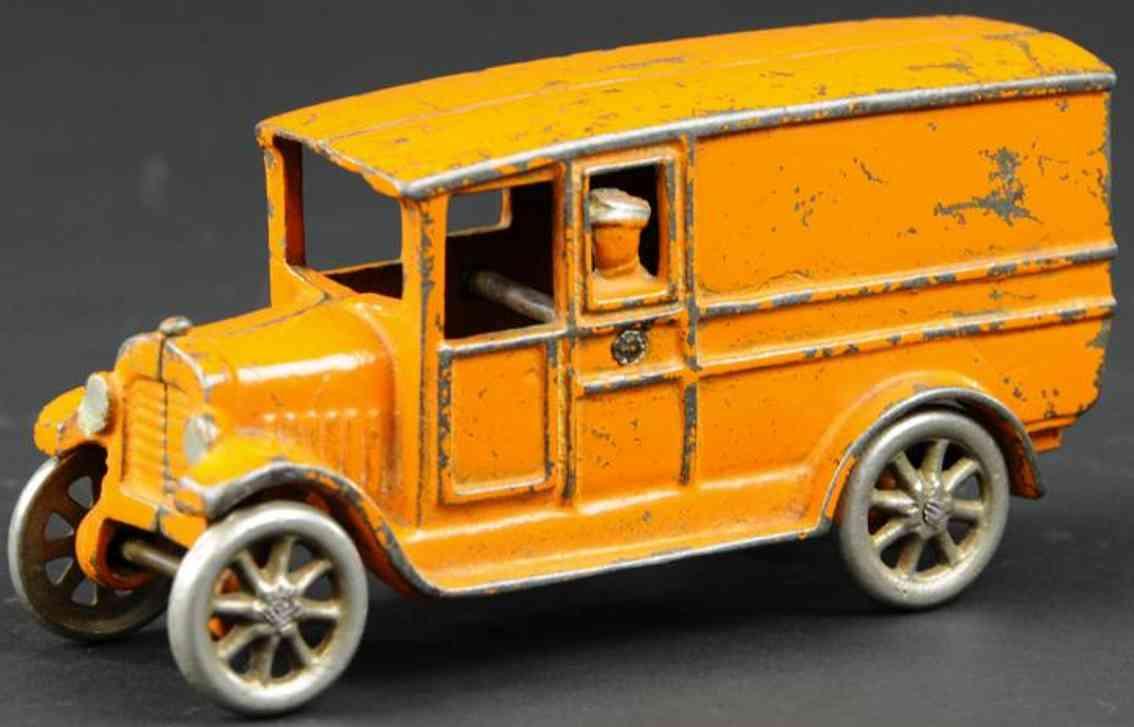 freidag spielzeug gusseisen lieferwagen orange
