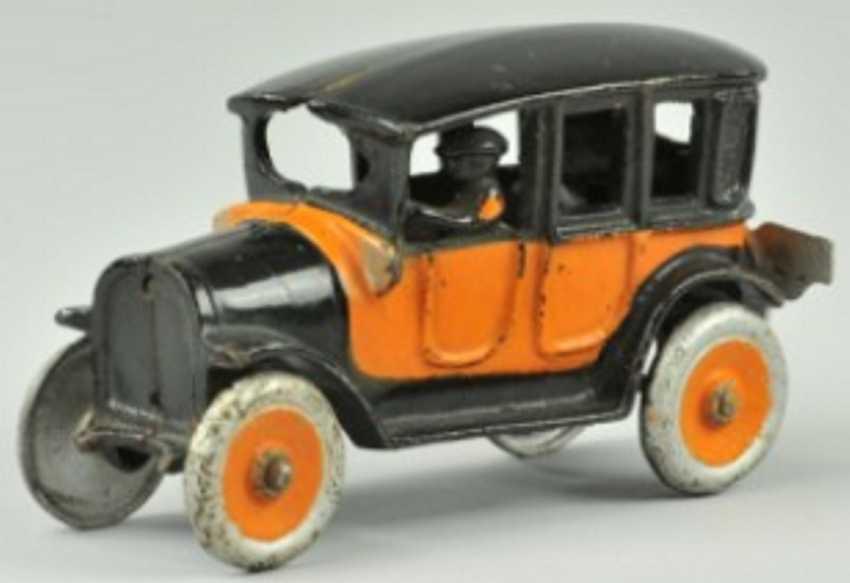freidag 453 spielzeug gusseisen auto taxi orange schwarz