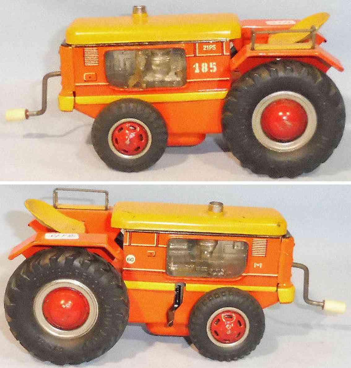 gama 185 blech spielzeug traktor schwungradantrieb rot gelb