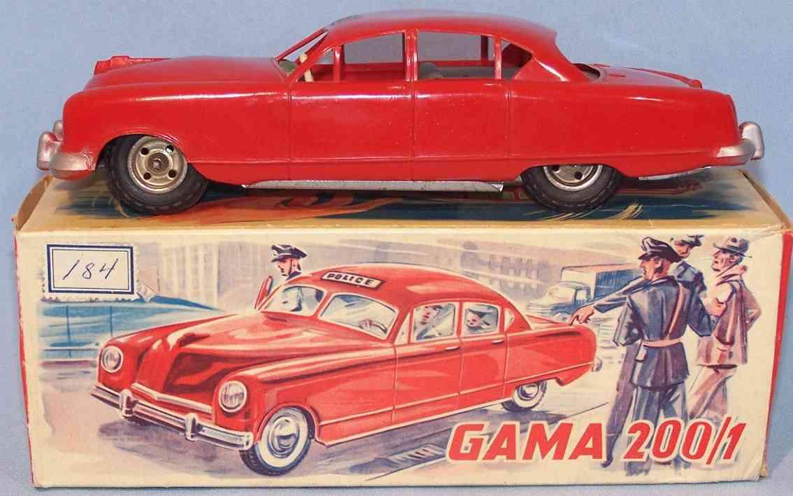 gama 200/1 blech spielzeug auto polizeiwagen rot