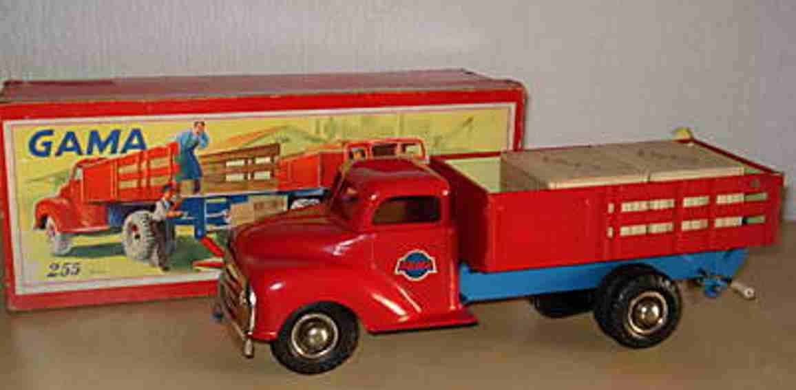 gama 255 blech spielzeug lastwagen mit friktionsantrieb