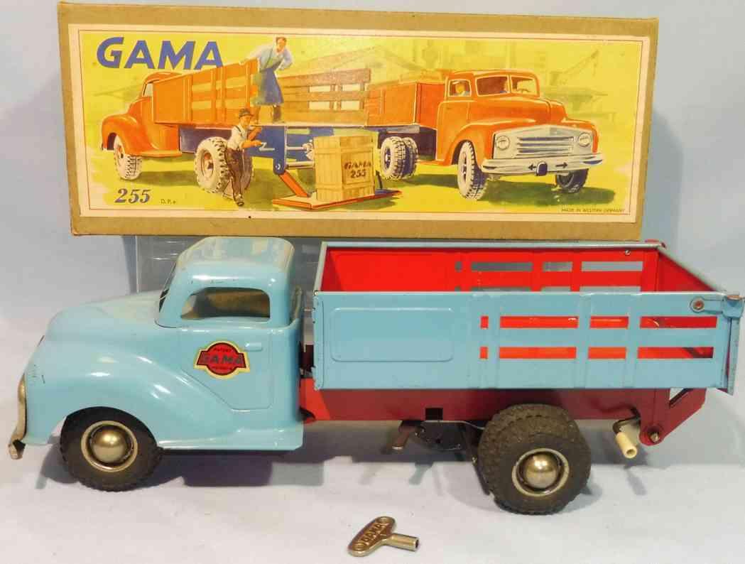 gama 255 blech lastwagen hellblau absenkbarer heckklappe