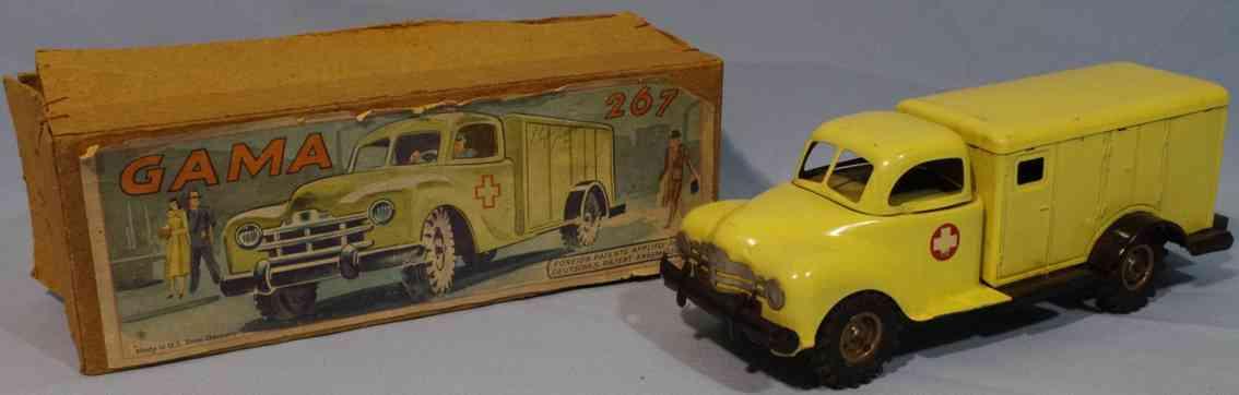 gama 267 blech spielzeug krankentransportwagen
