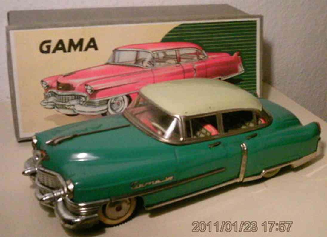 gama 300 blech spielzeug auto cadillac elektro in blau