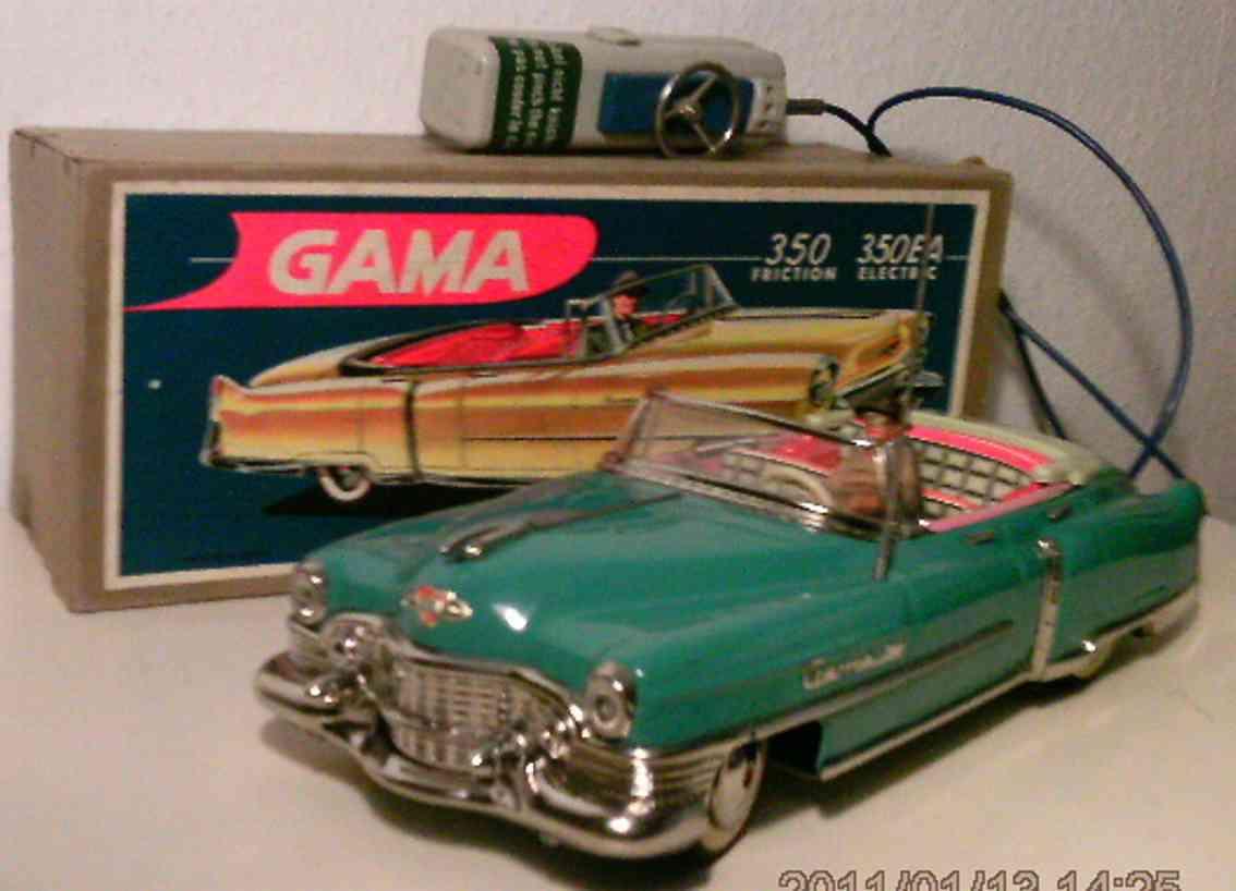 gama 350 ea blech spielzeug auto cadillac cabriolet blau