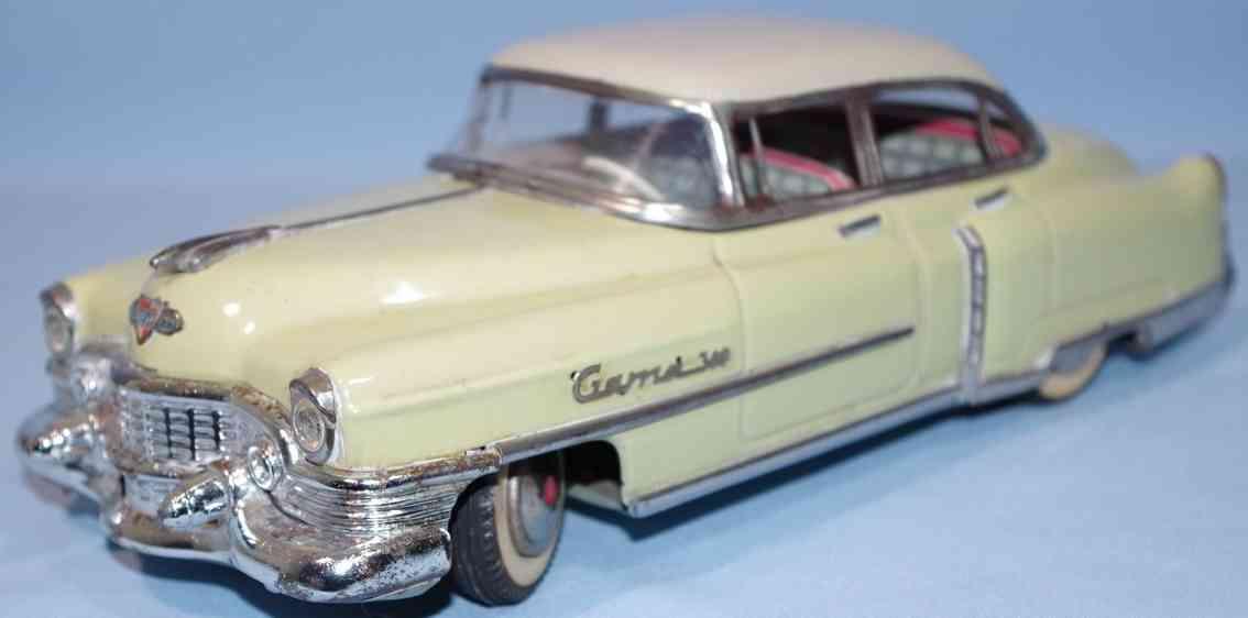 gama 300 tin toy car cadillac beigeyellow