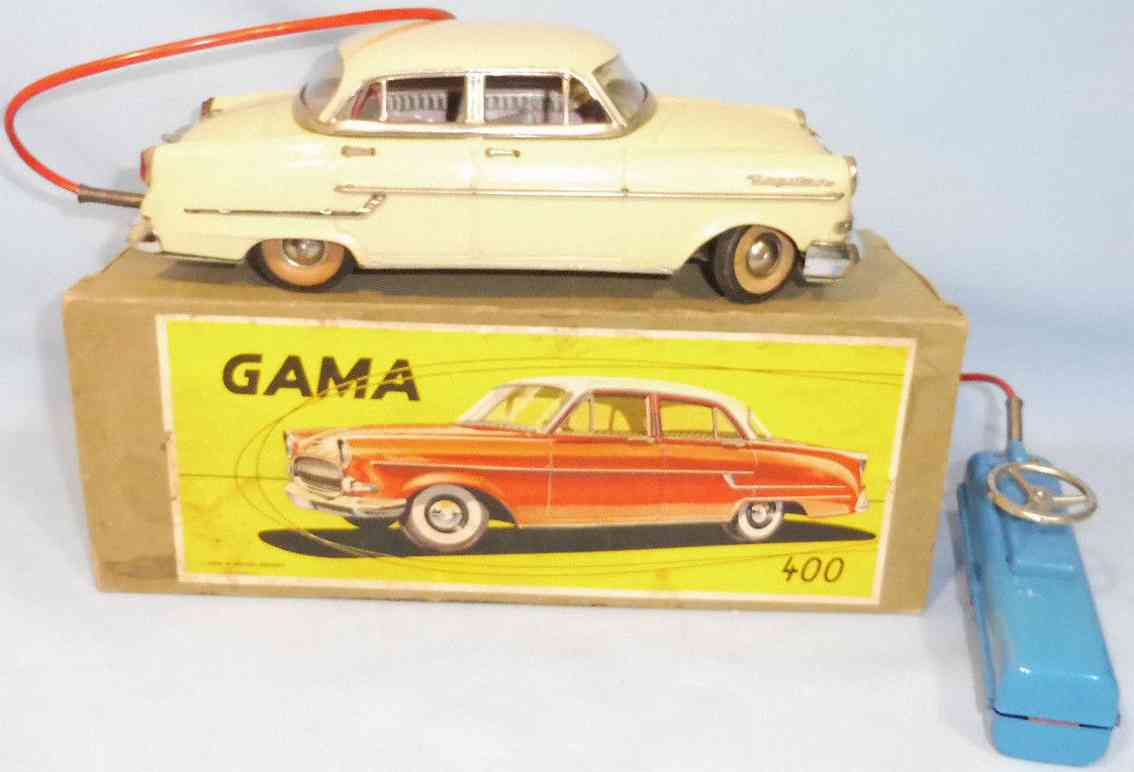 gama 400 afl blech spielzeug auto elektrik opel kapitaen beige gelb