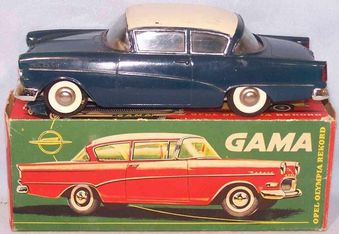gama 450 spielzeug opel olympia rekord auto kunststoff