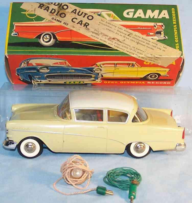 gama 452 spielzeug opel rekord radio auto aus kunststoff
