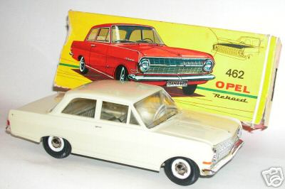 gama 462 blech spielzeug auto opel rekord 1963