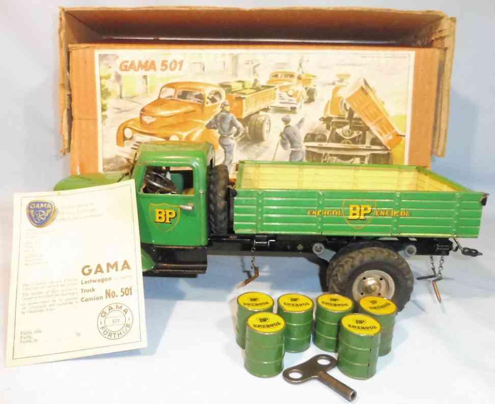 gama 501 bblech spielzeug bp lastwagen uhrwerk beleuchtung