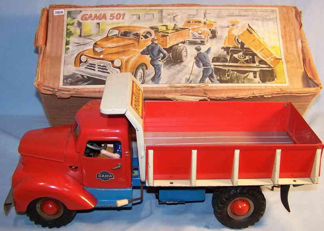 gama 502 blech spielzeug hydraulischer kipplastwagen