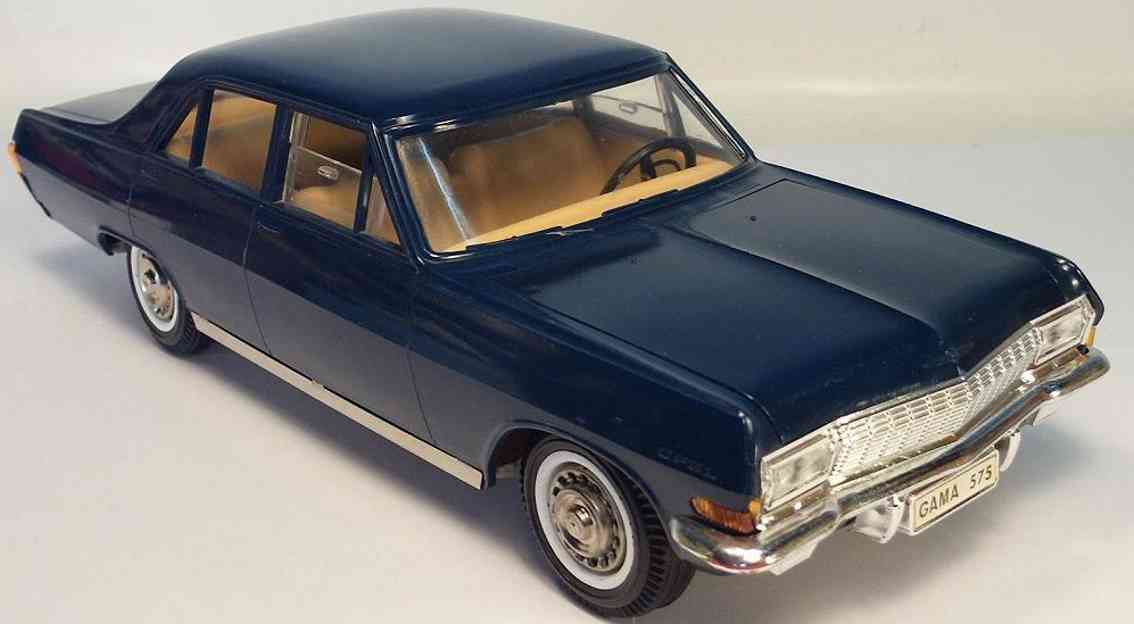 gama 575 tin plastic toy car opel admiral blue friction
