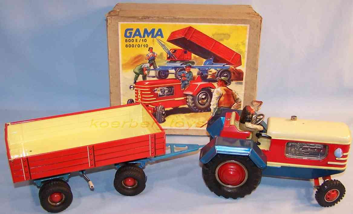 GAMA 800/0/10 Traktor mit Anhänger