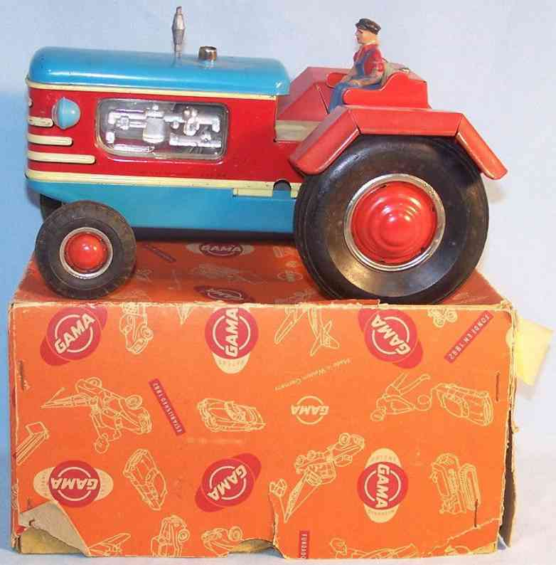 gama 800/1 tin toy tractor flywheel drive sparks