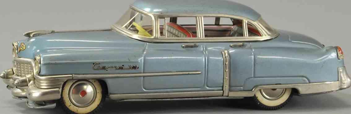gama weissblech spielzeug auto cadillac cabriolet blau