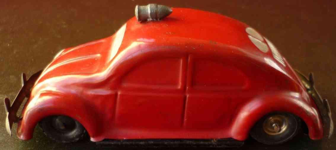 gama blech spielzeug feuerwehr vw volkswagen friktionsantrieb rot