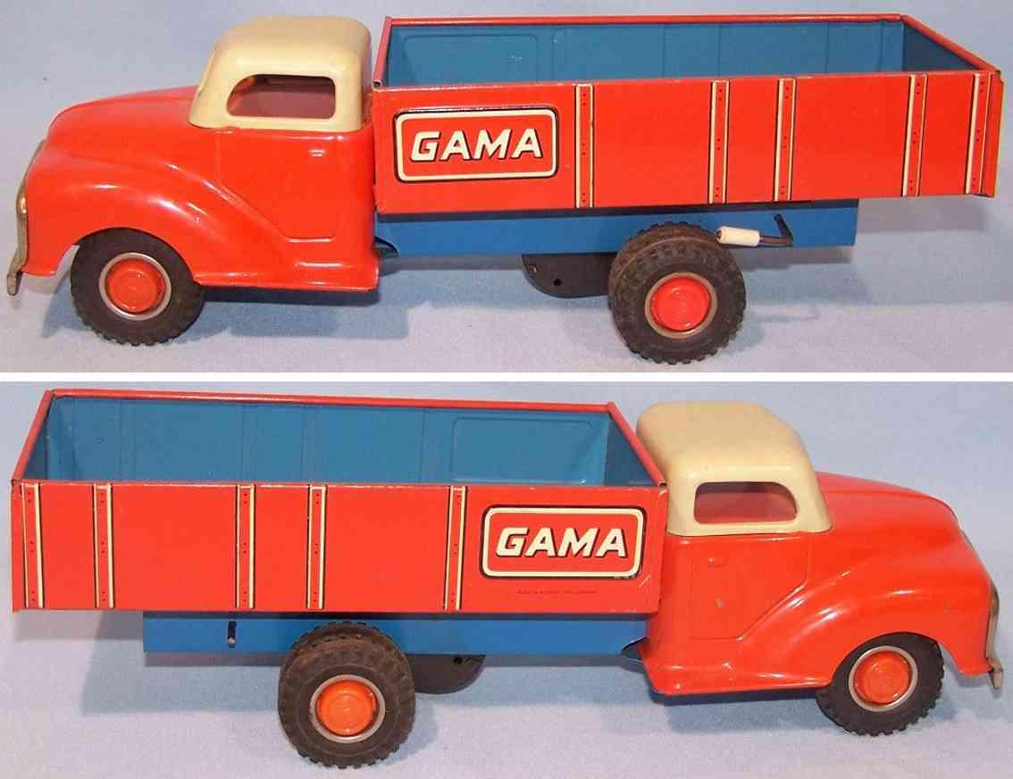 gama blech spielzeug kipplastwagen