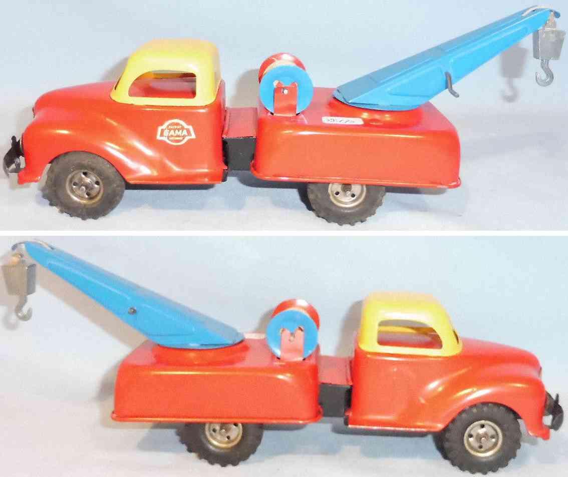gama blech spielzeug kranwagen mit schwungradantrieb