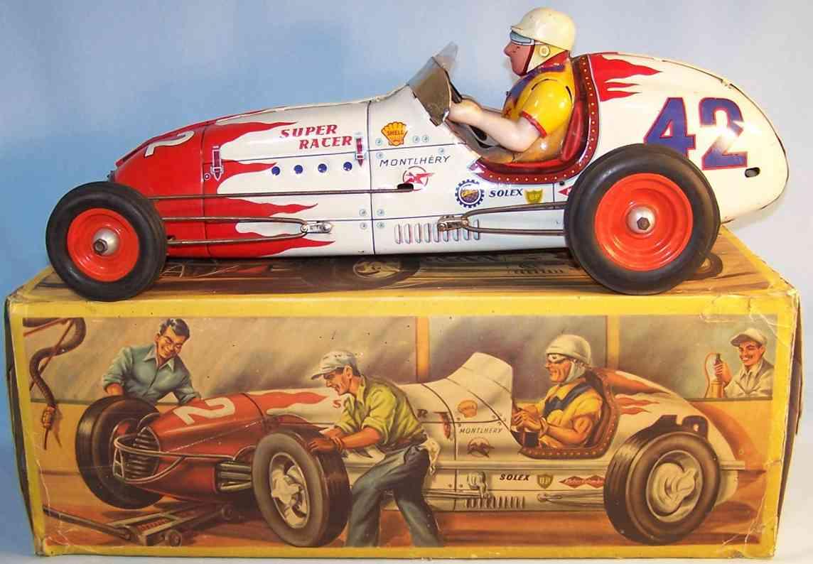 gem m ernest georges merli 56 blech spielzeug rennauto super racer 42