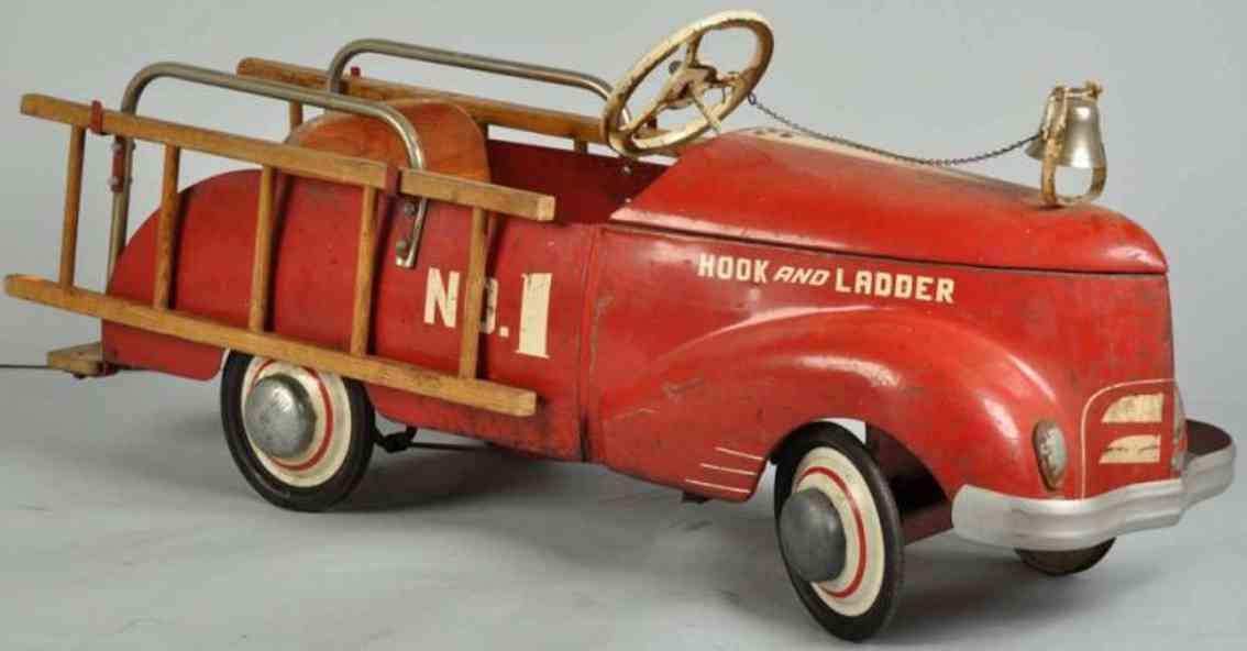 Garton Toy Co Ford Feuerwehrleiterwagen Nr. 1