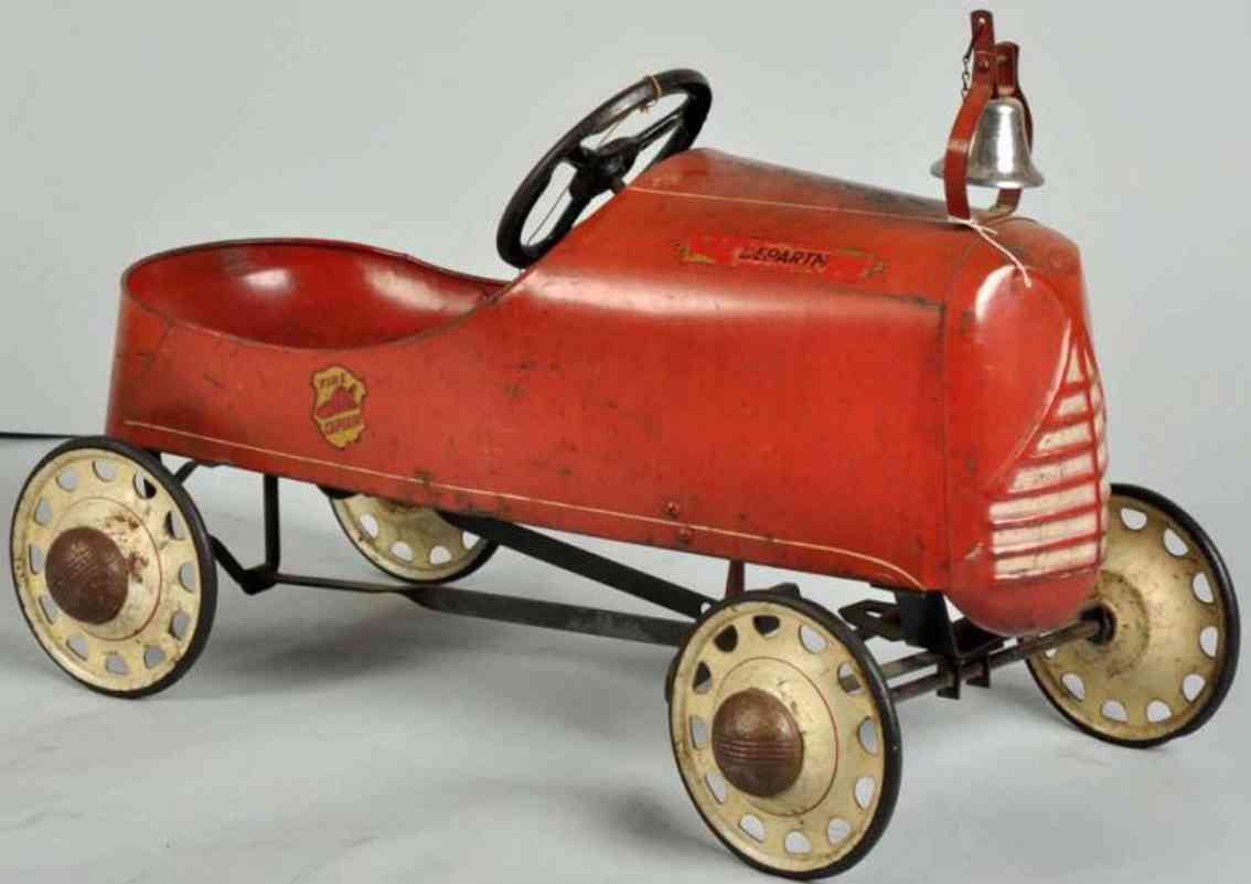 Garton Toy Co Fire captain's pedal car made of pressed steel