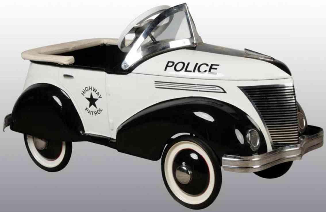 garton toy co stahlblech spielzeug ford polizei tretauto