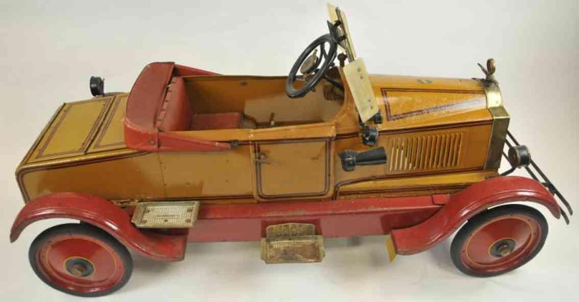 gendron wheel company blech spielzeug pioneer linie pedalauto orange