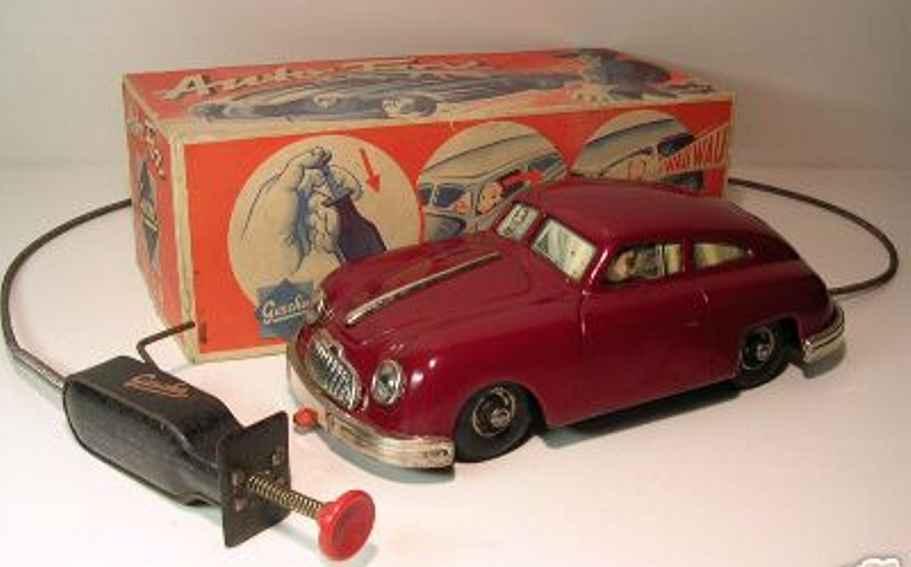 gescha 356 blech spielzeug auto porsche uhrwerk