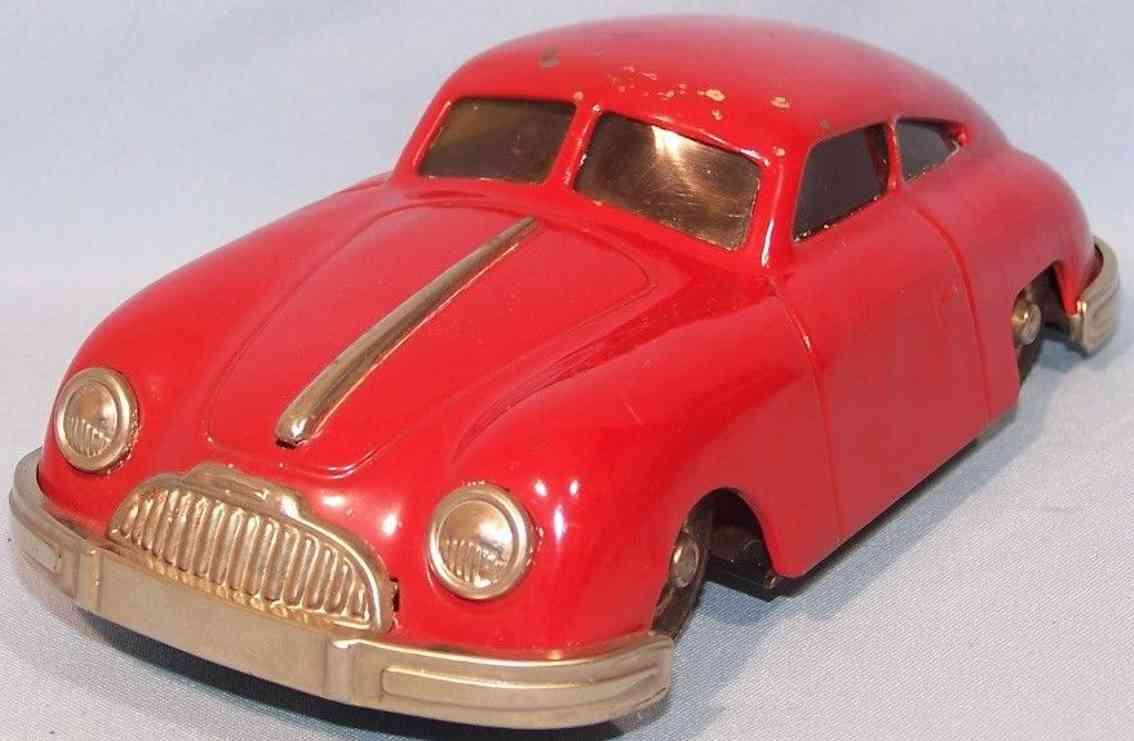 gescha 557 blech spielzeug auto porsche 356 sixmobil uhrwerk rot