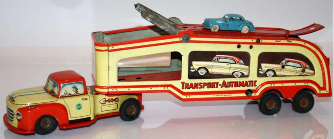gescha 560 tin toy truck car transporter