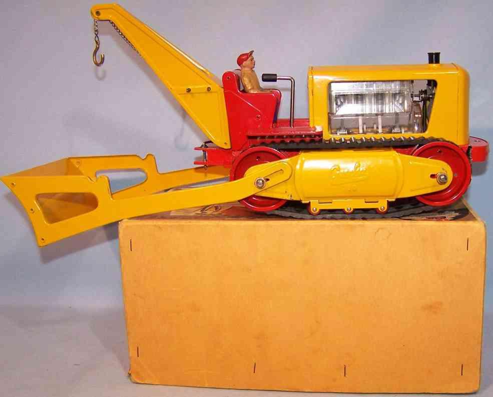 gescha 752 blech spielzeug imperator p elektrische raupe mit kran