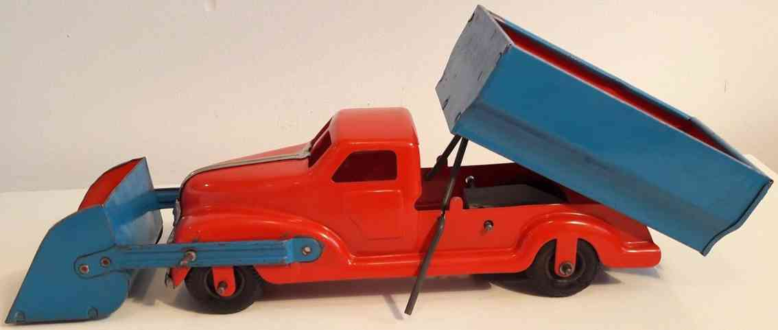 gescha blech spielzeug kipplastwagen mit schaufel