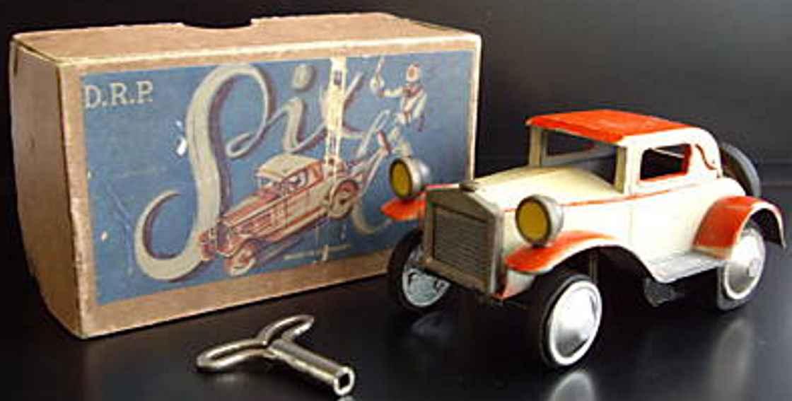gescha blech spielzeug auto six auto aus weißblech und zink mit einem hochentwickelten m