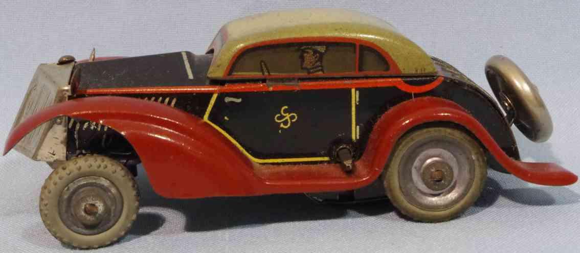 gescha blech spielzeug auto luxuslimousine rot schwarz