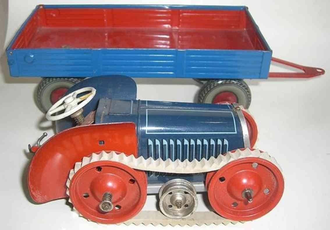 gescha 712 tin toy crawler tractor supporter