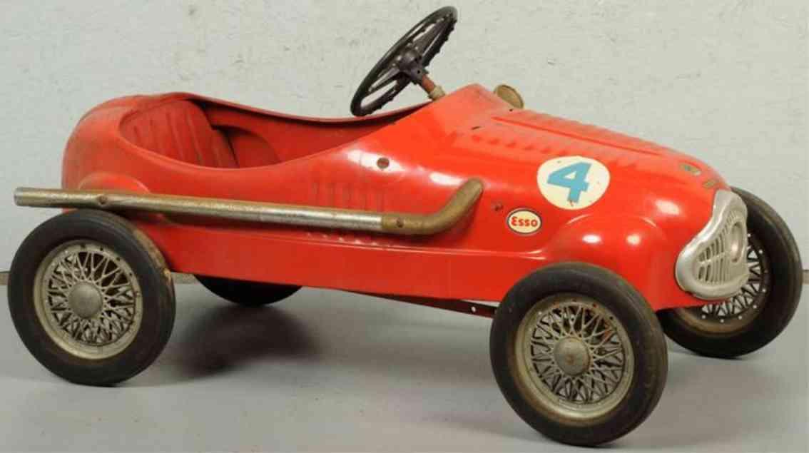 giordani pressed steel toy ferrari pedal car red