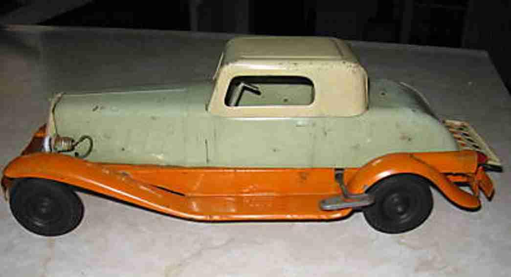 girard tin toy car pierce-arrow coupe green cream  orange