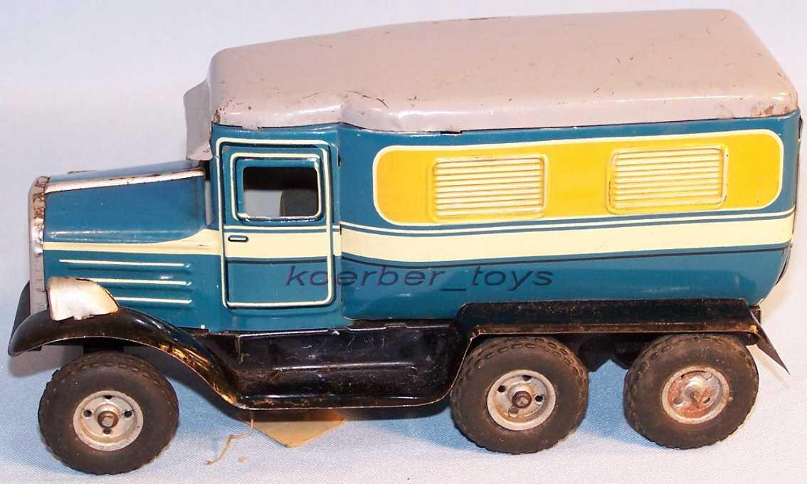 goeso 0423/20 lieferwagen mit uhrwerk in blau