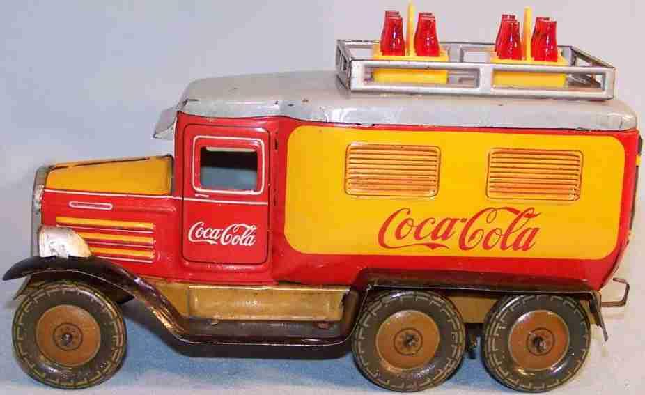 Göso 0426/20 Coca Cola Lastwagen mit Uhrwerk Hanomag