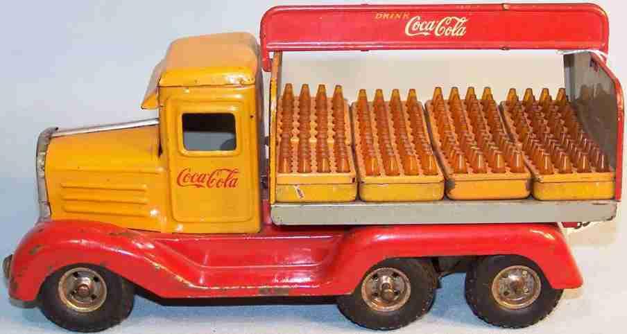 goso Coca Cola 22 tin toy truck coca cola truck hanomag delivery car