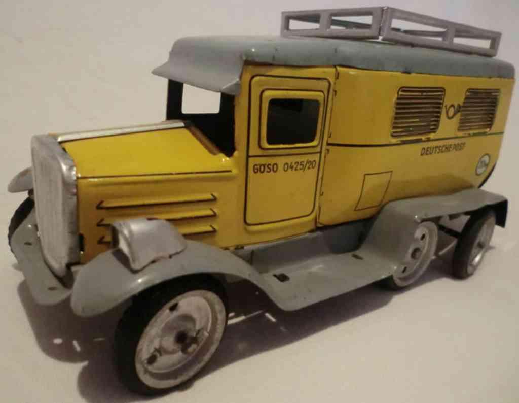 goeso 0425/20 blech post lastwagen hanomag uhrwerk  gelb