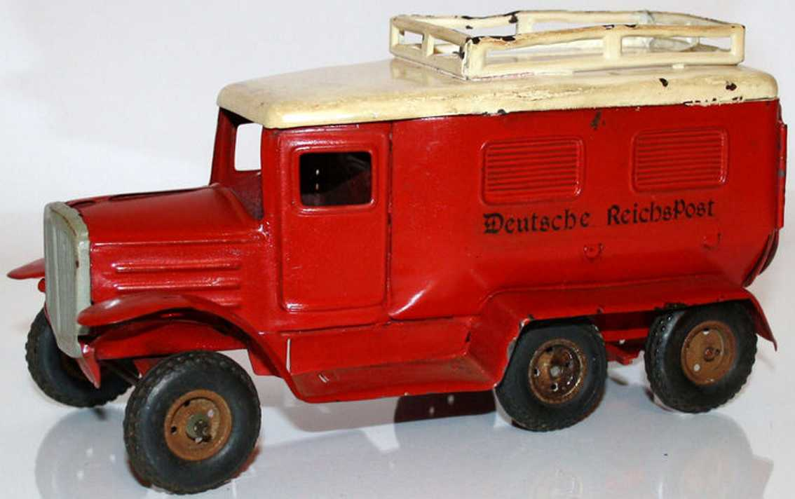 Goeso Truck Hanomag German empire mail with clockwork