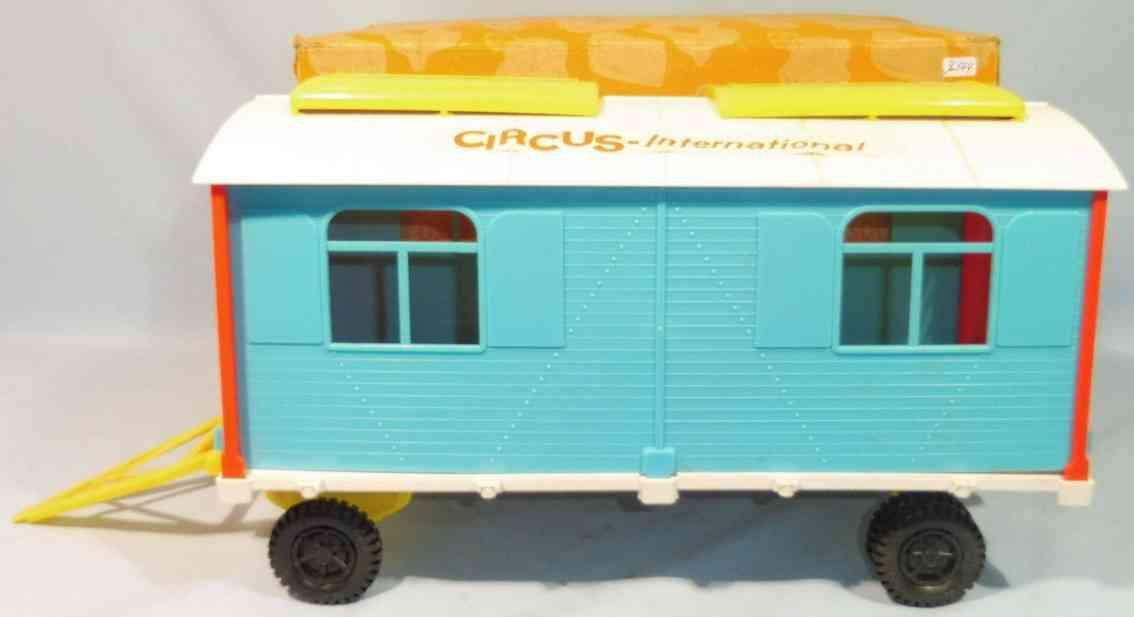 goeso plastik spielzeug zirkuswagen kunststoff blau