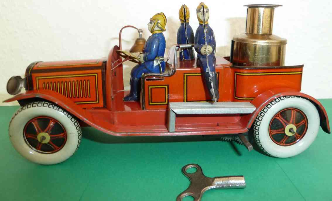 greppert & kelch 567 tin toy engine fire tank car