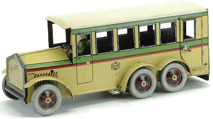 greppert & kelch 96/516 tin toy car bus clockwork driver