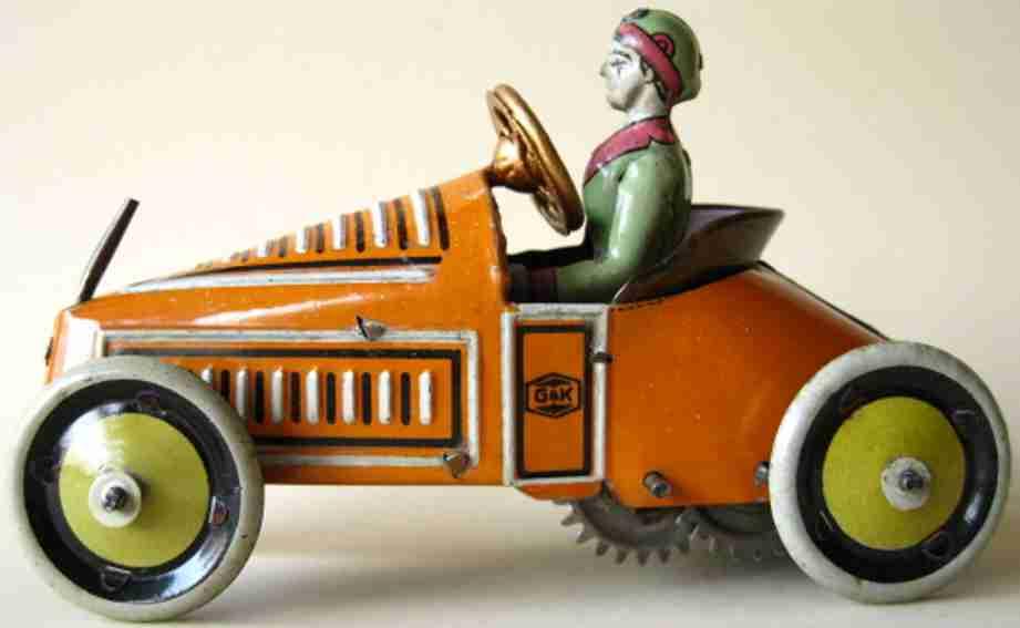 greppert & kelch blech spielzeug auto roadster uhrwerk